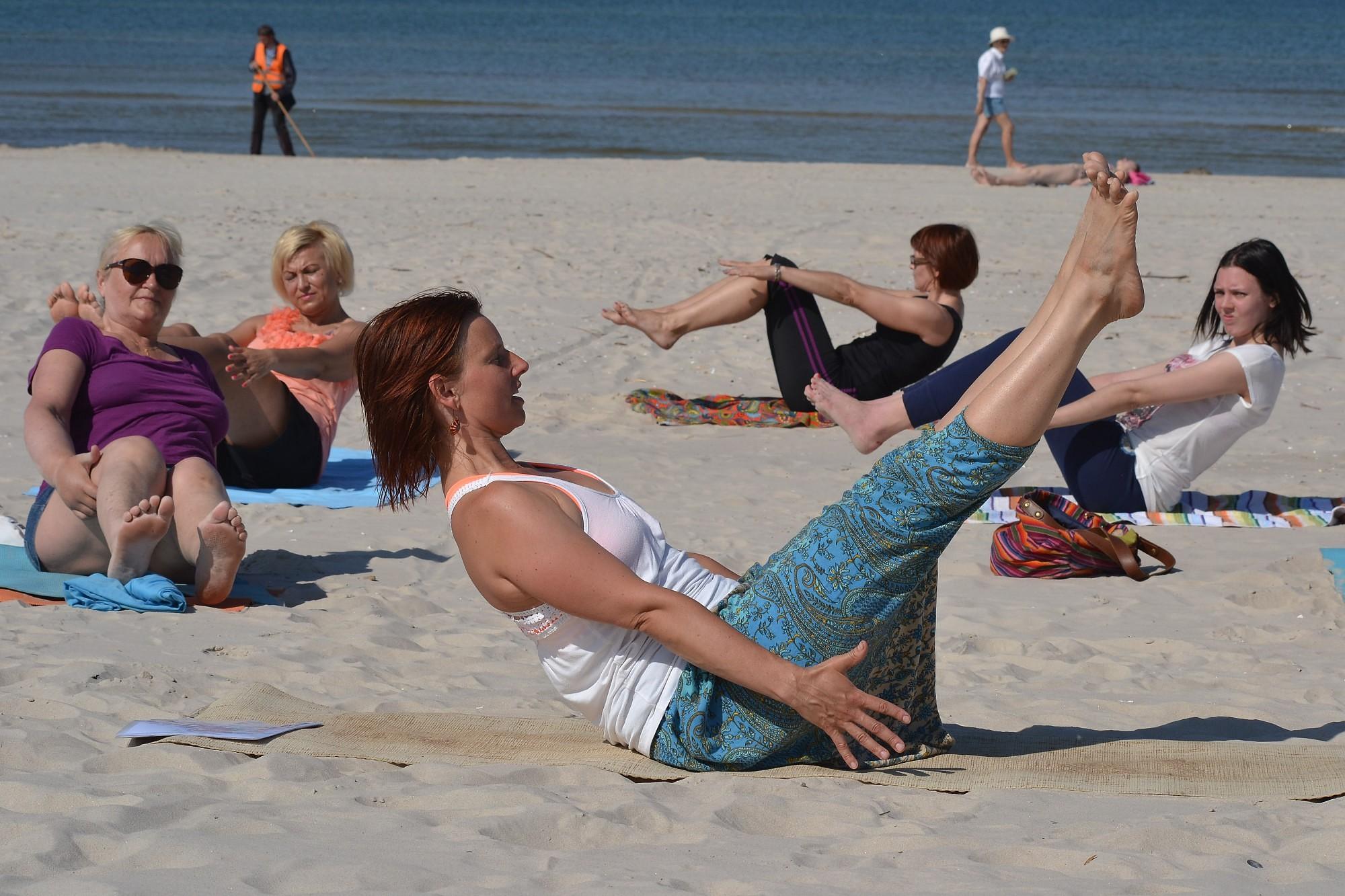 Гимнастика на пляже – как лиепайская экзотика