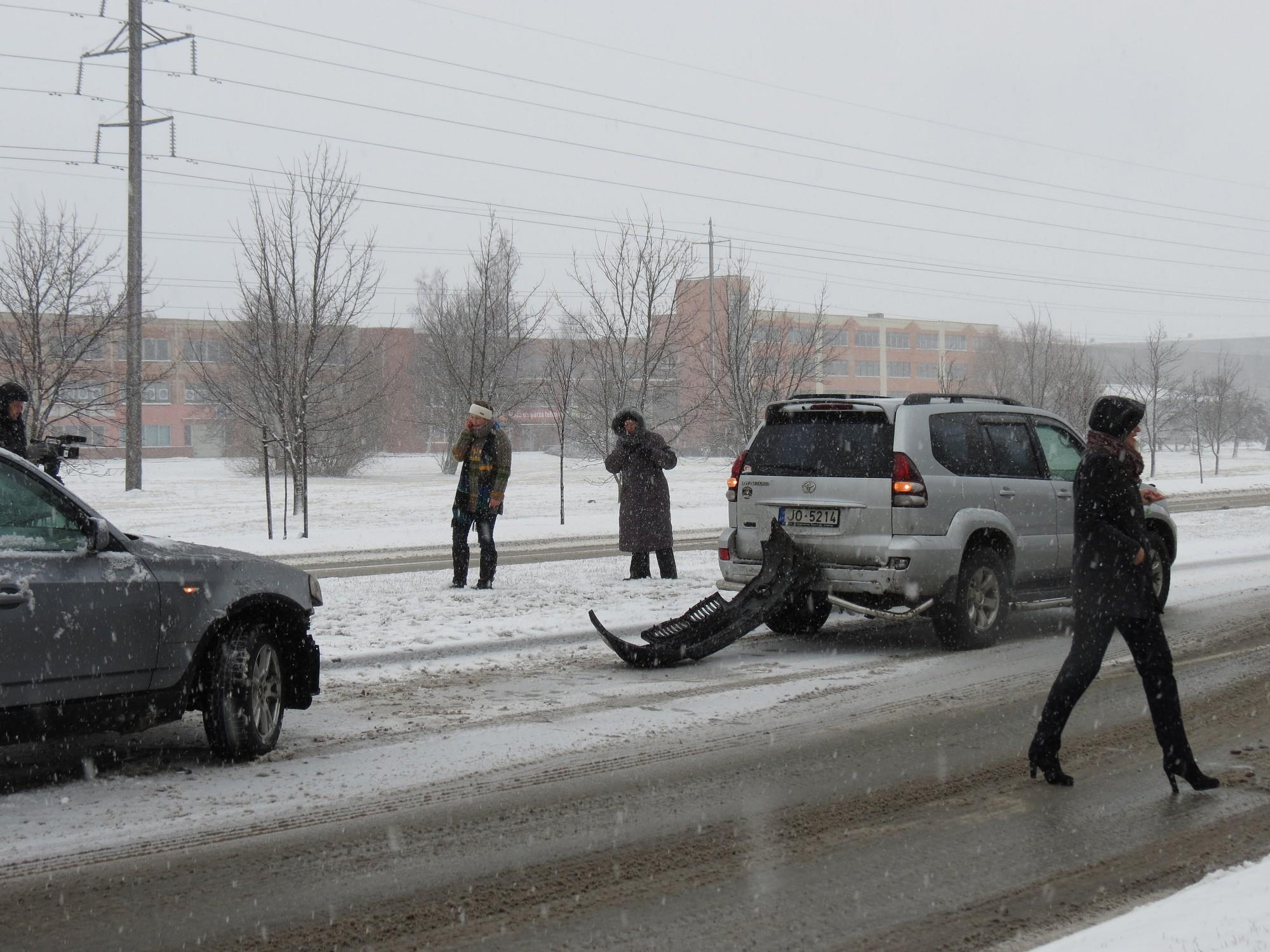 На улице Бривибас столкнулись четыре машины