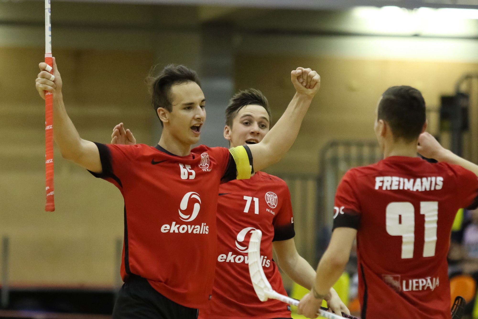 Флорболисты «Курши/Ekovalis» одержали первую победу в сезоне