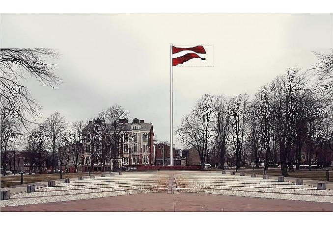 В пятницу торжественно поднимут флаг крупного формата