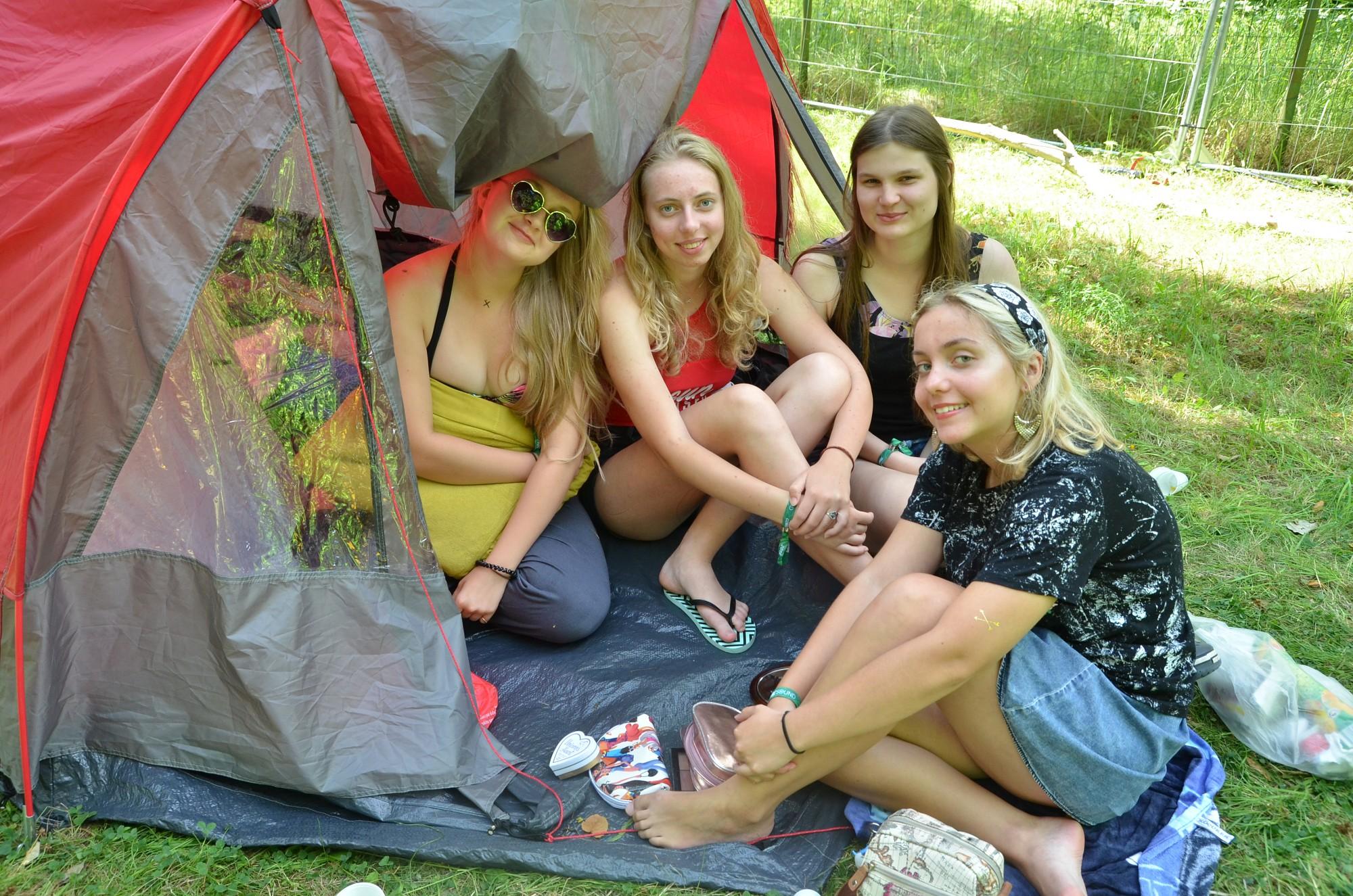 Фестиваль начался с палаточного городка