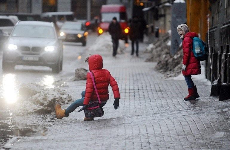 Травмы из-за скользких тротуаров