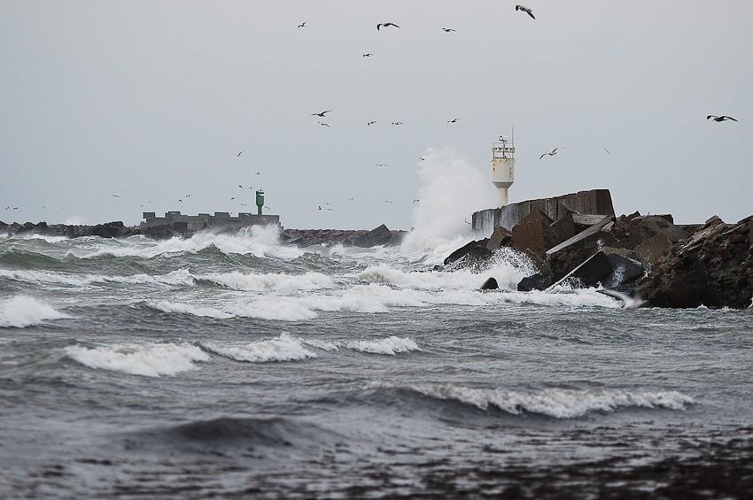 Ветер в Лиепае усилился до 29 метров в секунду