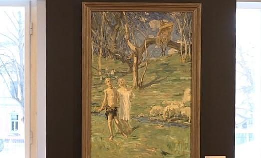 На выставке можно увидеть найденный за стеной автопортрет Яниса Розенталса
