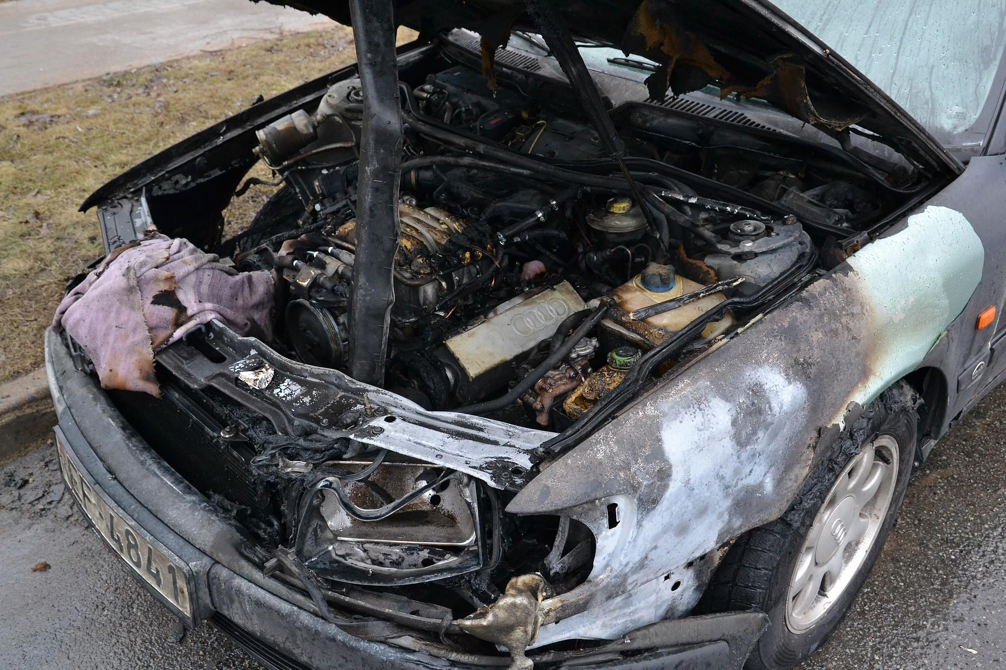 Загорелась автомашина