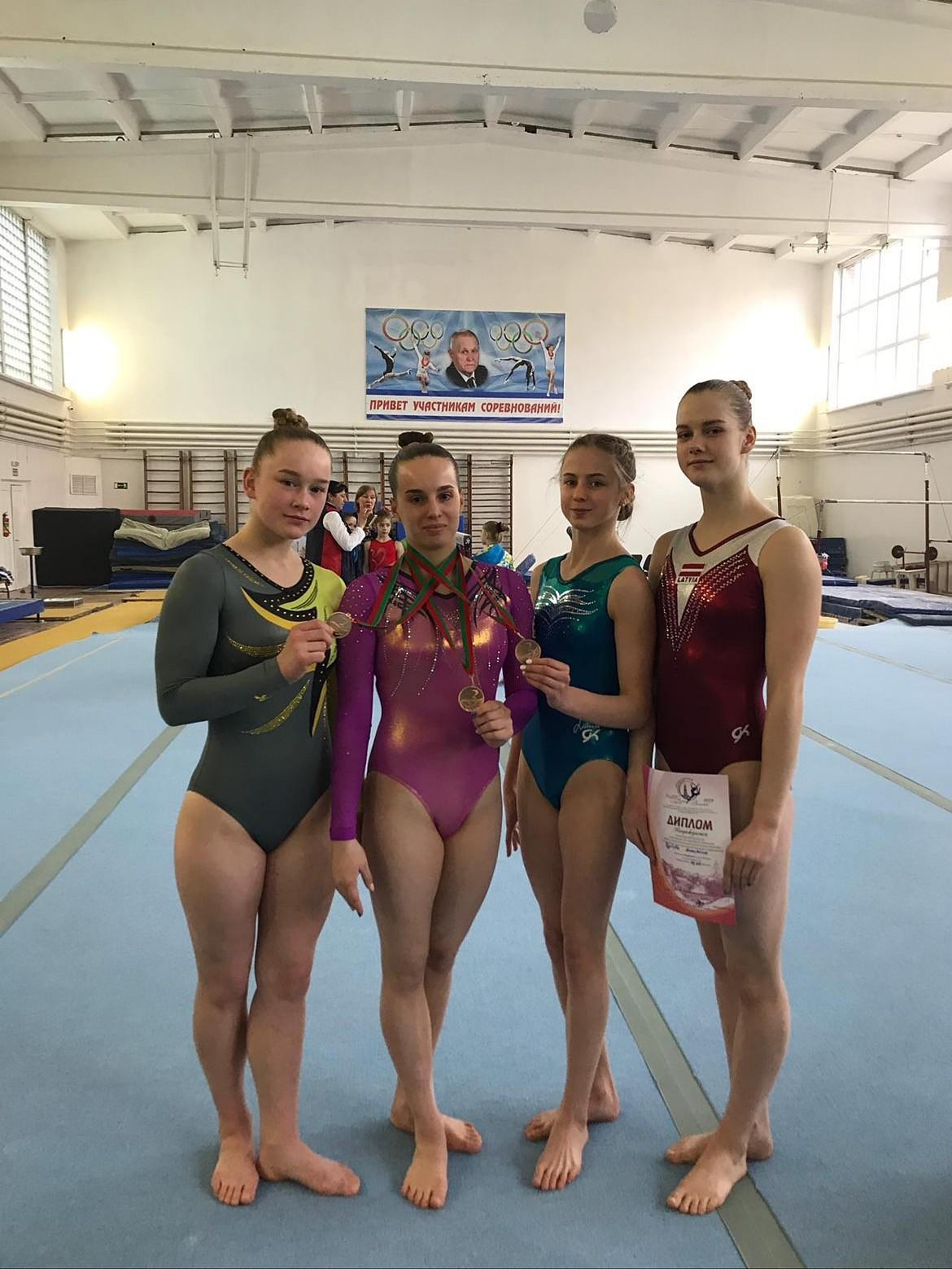 У гимнасток три медали в Витебске