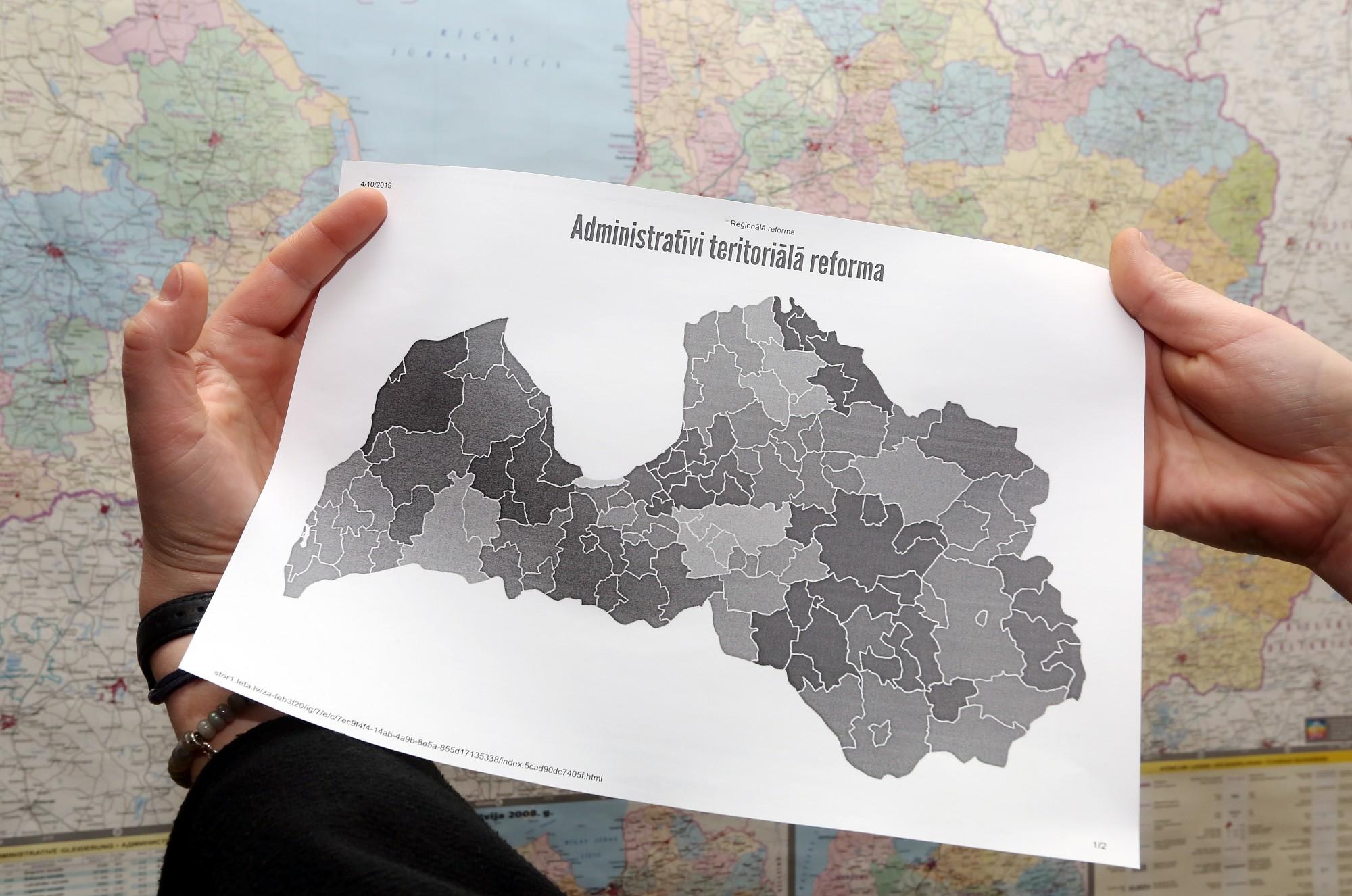 Обновлено — МОСРР предложит правительству карту с 36 самоуправлениями