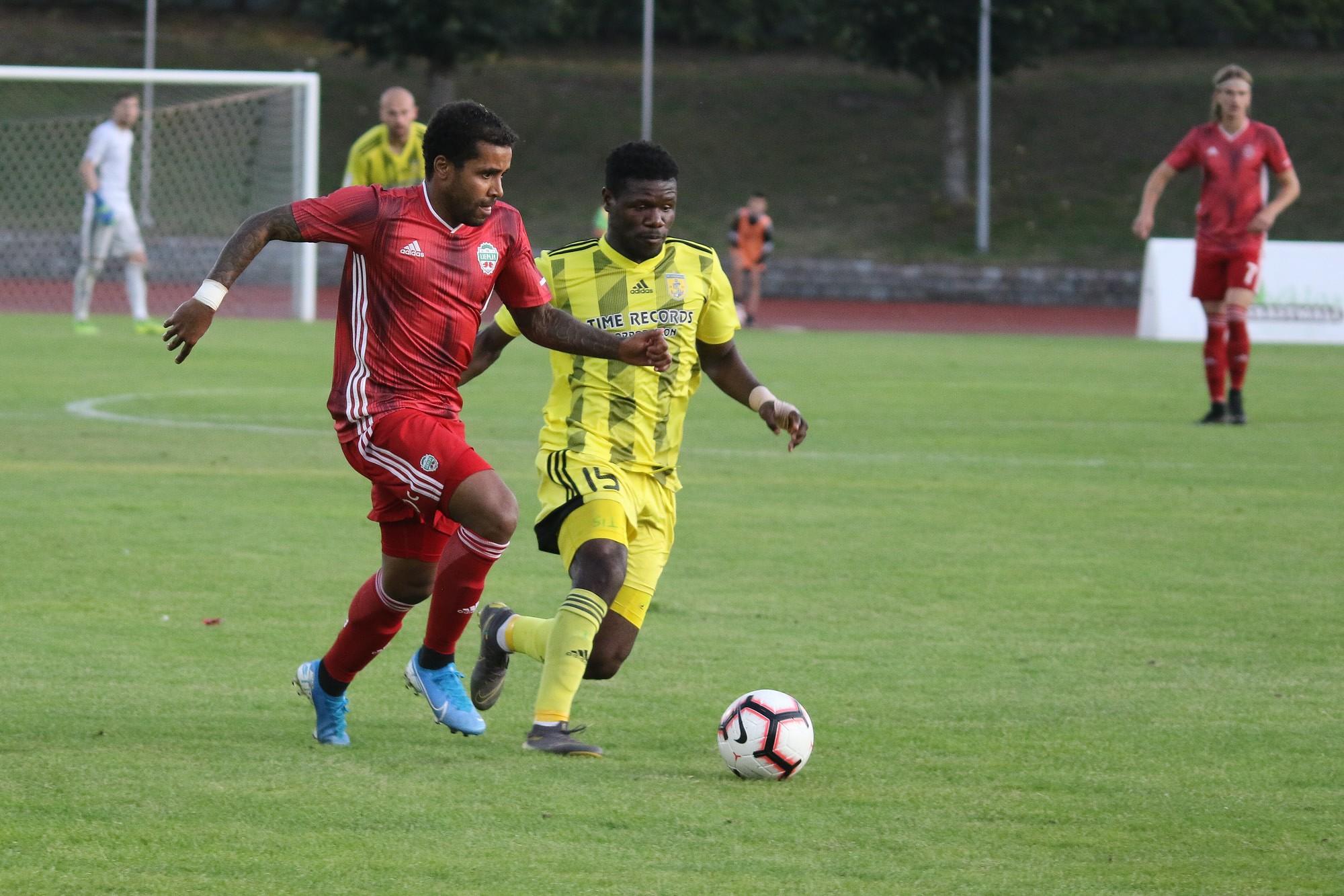 Футболисты «Лиепаи» пережили шестой проигрыш подряд