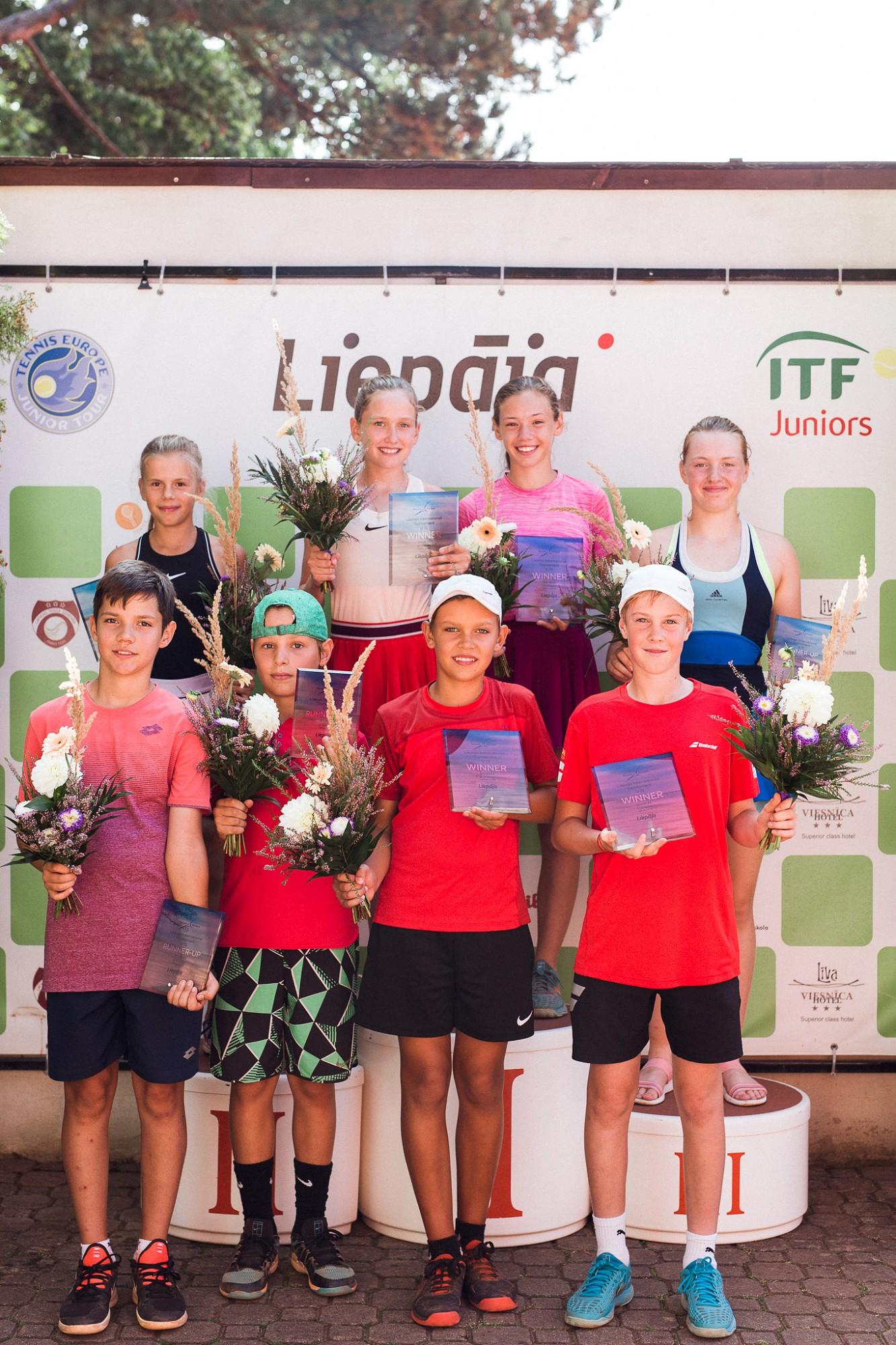 В Лиепае состоялись международные соревнования по теннису в группе U-12