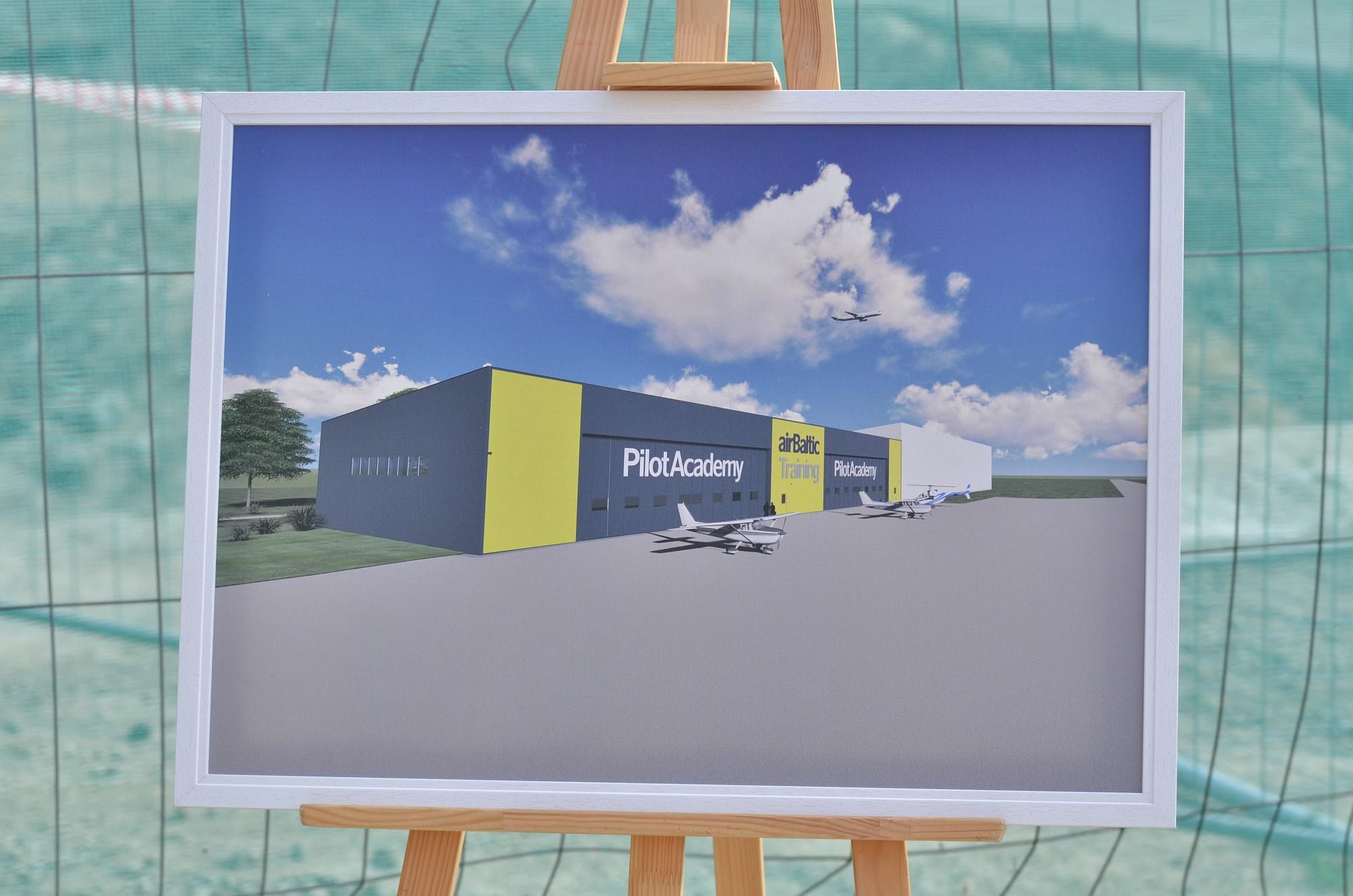 В Лиепайском аэропорту на следующей неделе будет открыт самолетный ангар академии пилотов «airBaltic»