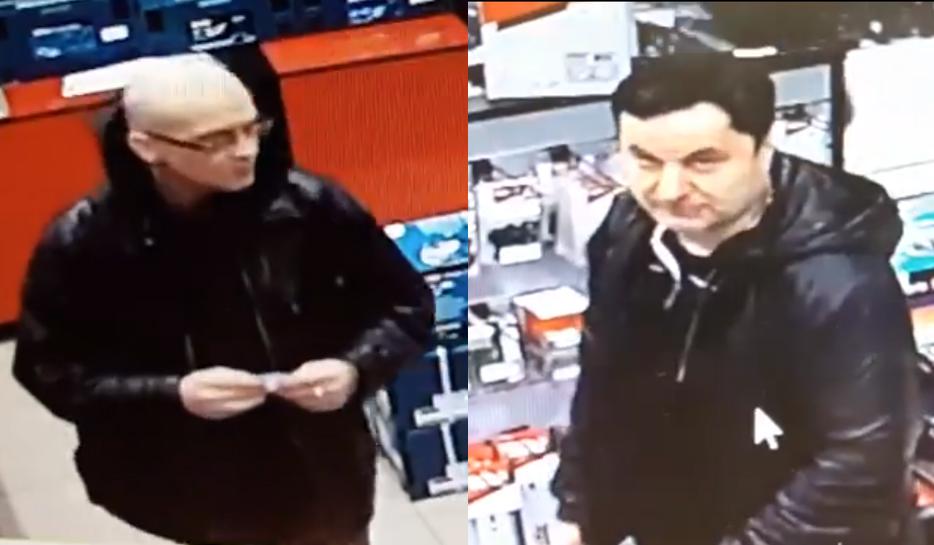 Полиция просит помочь установить личности мужчин, обворовавших магазин инструментов