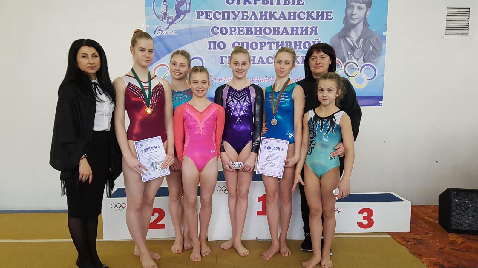 У лиепайских гимнасток успехи в Витебске