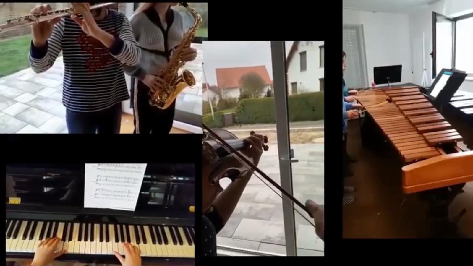 Хороший момент дня: Оставшиеся дома люди отправили музыкальный привет Италии