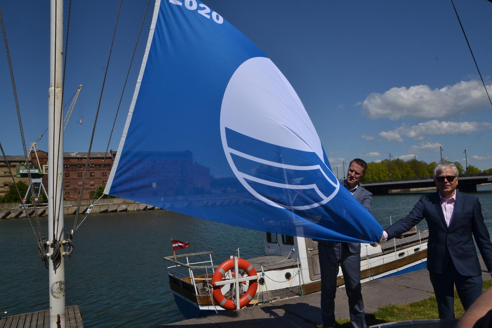 В Лиепае вновь развеваются четыре Синих флага
