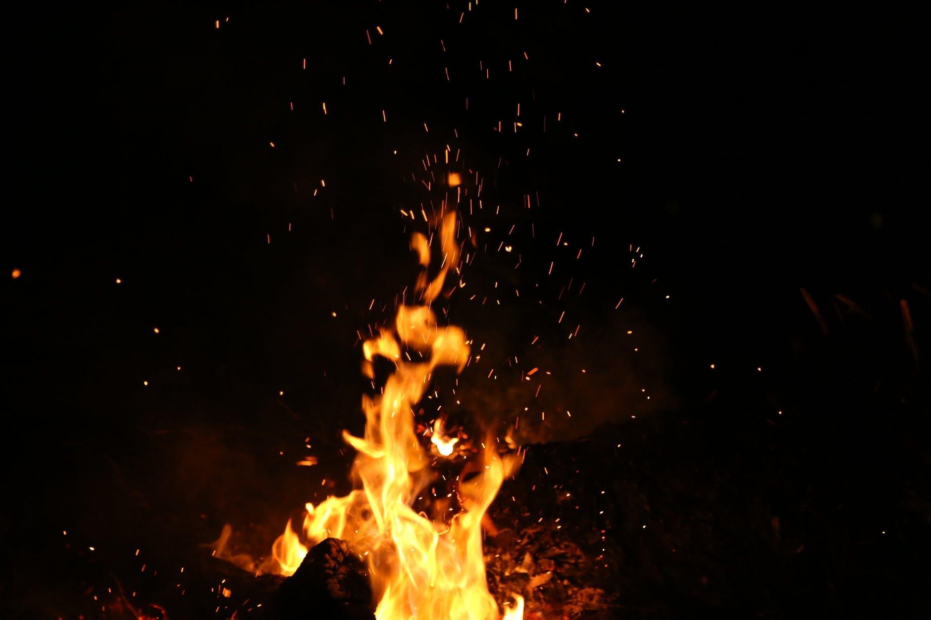 В Военном городке тушили пожар в лесу