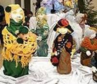 Выставка рождественских открыток и кукол