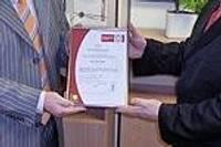Коммунальное управление получает сертификат ISO