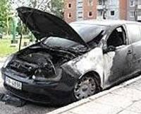 Подожгли автомашину полиции самоуправления