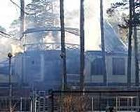 Дополнено (2) — Сгорела историческая «Вилла Алма»