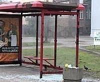 Повторный погром на автобусной остановке