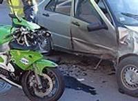 Не уступил дорогу мотоциклу