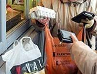 Пластиковые мешочки в магазинах