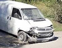 Опрокинули микроавтобус
