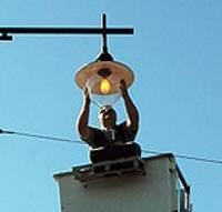Установлен новый светильник