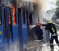 Cгорел трамвай