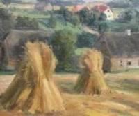 Сельское подворье в латышской живописи