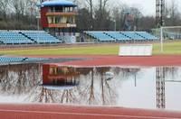 Стадион «Даугава» затопило водой