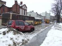 Городской автобус застопорил движение