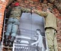 Жители Военного городка на выставке