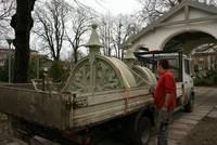 Muzeja ēkas jumta zelmenis atguvis savu rotu