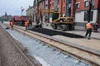 В мае трамвай пойдет по новым рельсам