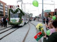 Открыли новую линию трамвая