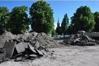 Площадь Яниса Чаксте – стройплощадка