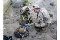 Во время строительных работ обнаружены останки воина
