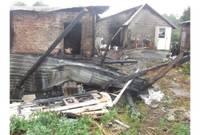 Дополнено – После удара молнии в хлеве сгорели животные