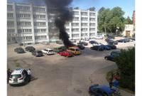 Сгорела автомашина посетителей фестиваля