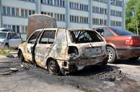 Фото: Сгорела машина