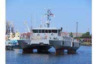 Прибыл новый патрульный корабль Морских сил «Елгава»