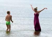 Возле Лиепаи температура воды составляет +17 градусов