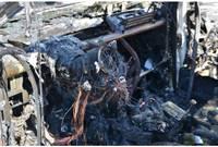 Загорелась служебная машина полиции безопасности