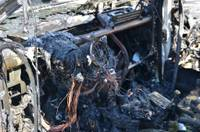 Сгорел легковой автомобиль