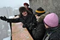 Белорусские журналисты в лиепайской метели