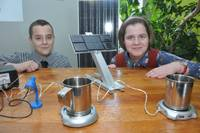 Семиклассники построили солнечную панель