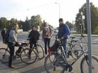 Считают велосипедистов