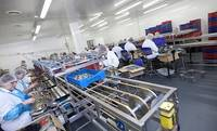 Завод «Пиеюра» запустил первую в Латвии линию по производству рыбных палочек