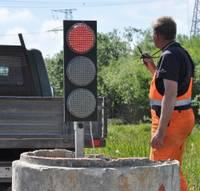 Светофор и на Бартской дороге